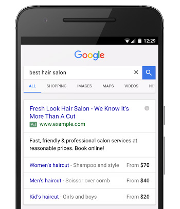 Google Introduces Price Extensions for Mobile Text Ads