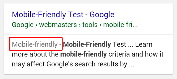 Google mobile friendly label update