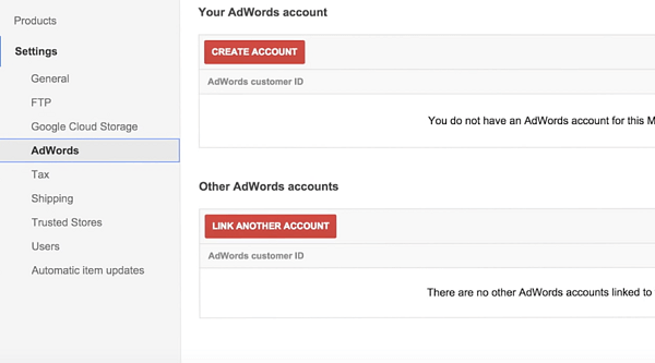 Link Your Google Adwords Account with Merchant Center