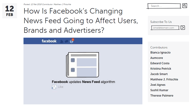 How Facebook is Changing News Feed