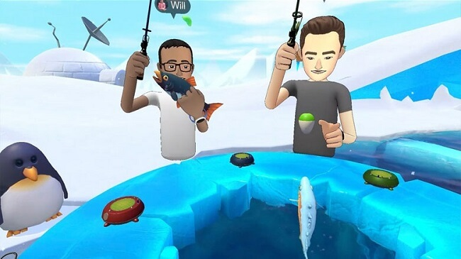 Facebook Spaces-Ice Fishing
