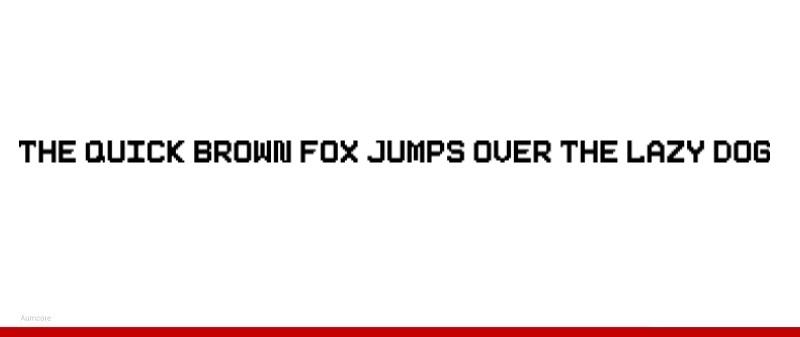 pixelated fonts