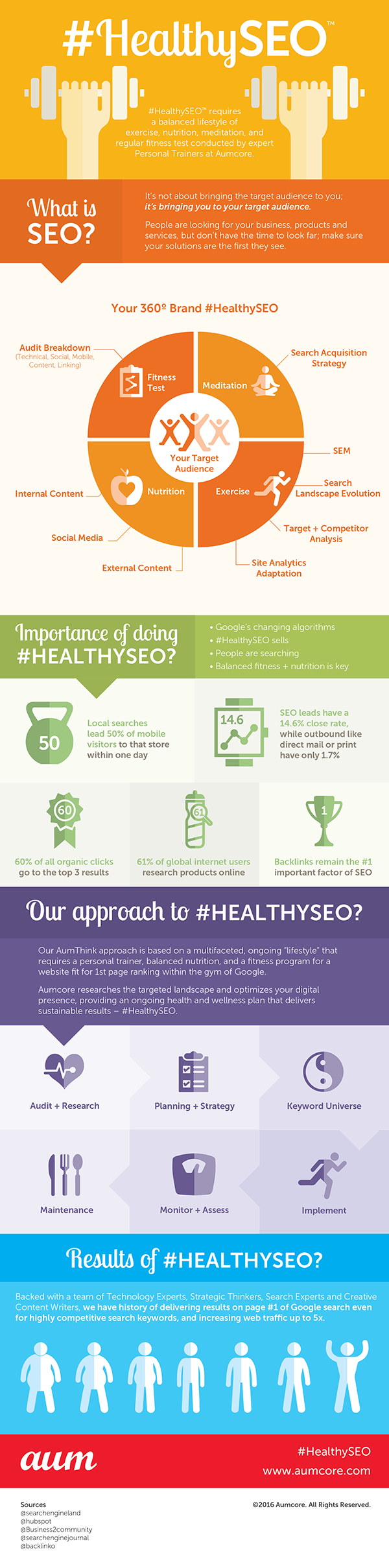 Healthy SEO - An Infographic from Aumcore