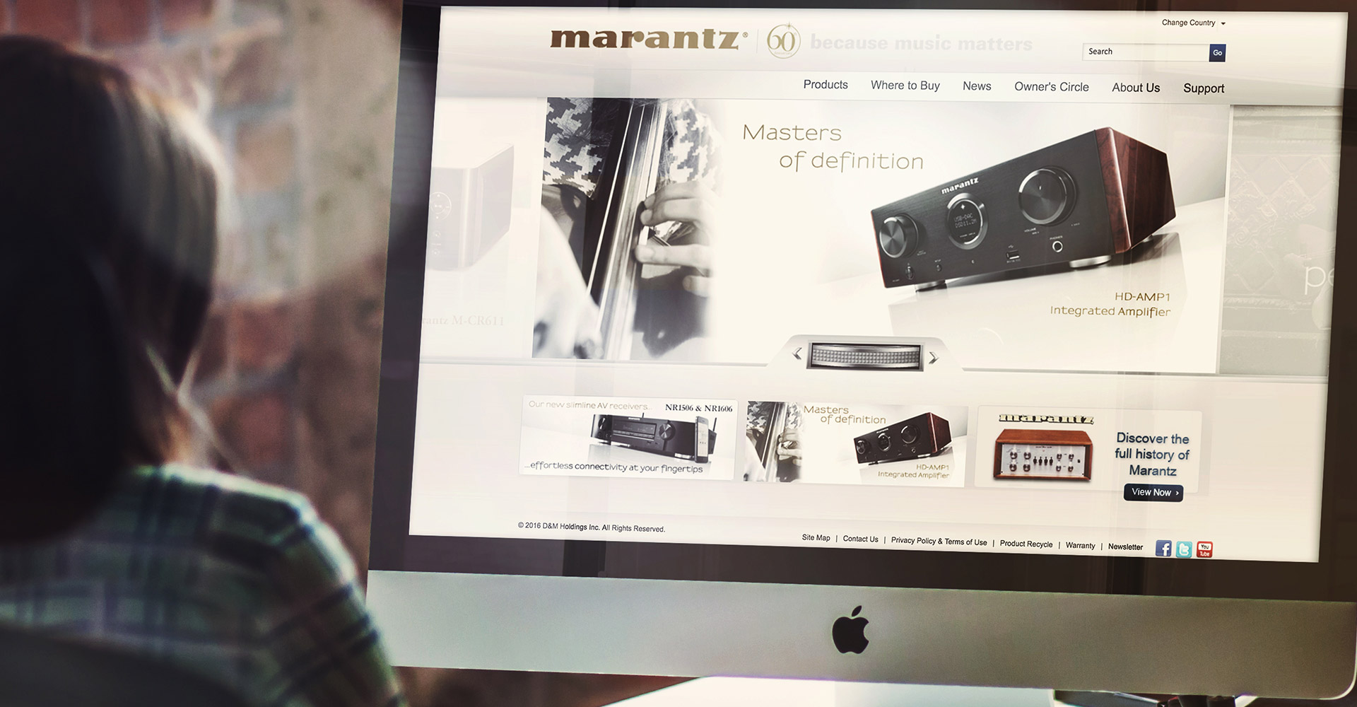 Marantz Website | Web Development